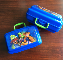 Plastic Kids Lunch box with lock and handle