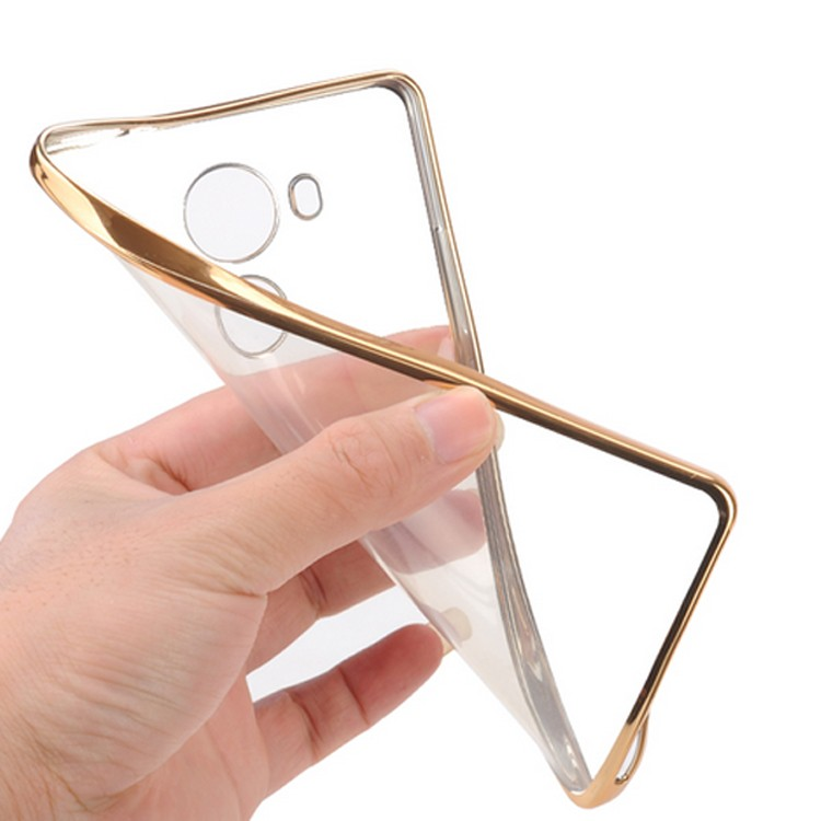 Electroplating TPU transparent case for huawei p8 lite cell phones 2016 phone cover