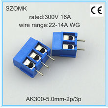 2 and 3 pins and 5.08mm spacing terminal and connector as terminal block connector and wire connector from szomk, China