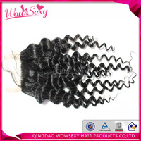Qingdao hair afro kinky curl silk base closure 5a top quality 4x4 large in stock virgin brazilian hair