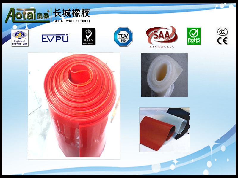 1mmx1.2mx10m A grade through ISO 9001 certification red Silicon rubber sheet