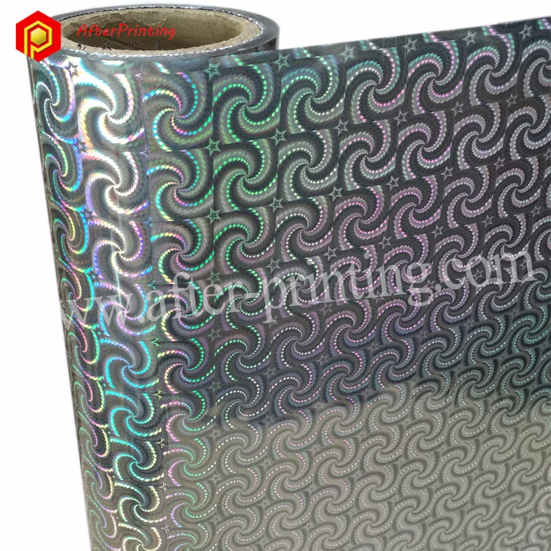 Metallic Silver Base Holographic Film Christmas Gift Packaging Material