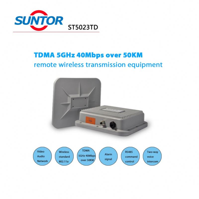 5.8ghz 40Mbps 50km 2 way transmitter and receiver