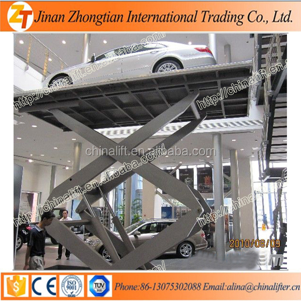 Portable scissor car lift moveable scissor car lift hydraulic lift with CE SGS