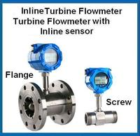 flange connection axial flow water turbine flow meter with signal output at reasonable price