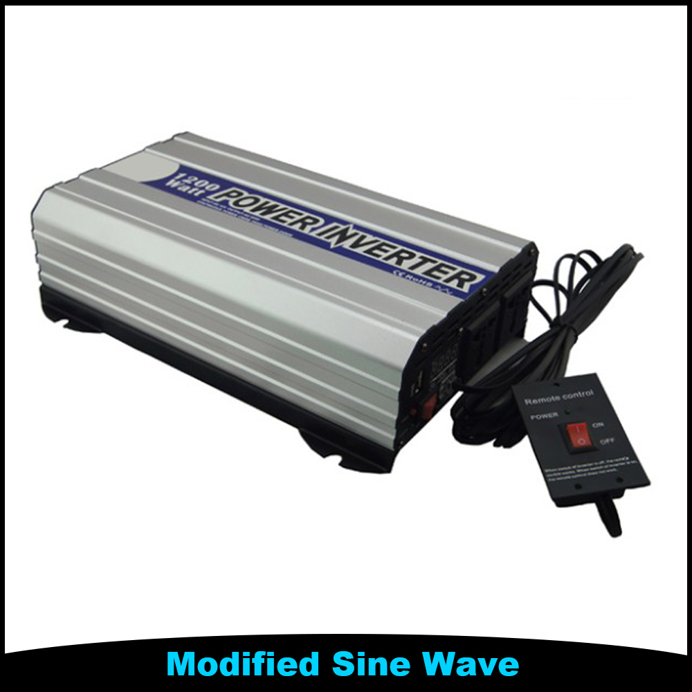 Home 1500W LCD Digital Inverter 1.5KW Off Grid DC 12V AC 220V Power Invert With Remote Control