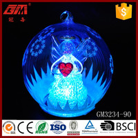 red heart angel glass ball for christmas stage decoration christmas party