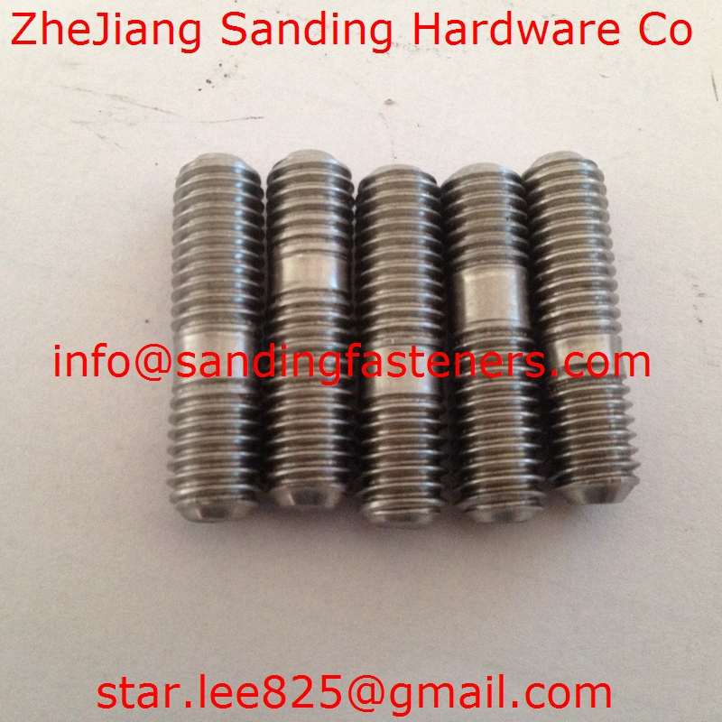 Stainless steel double head bolts,double thread rod