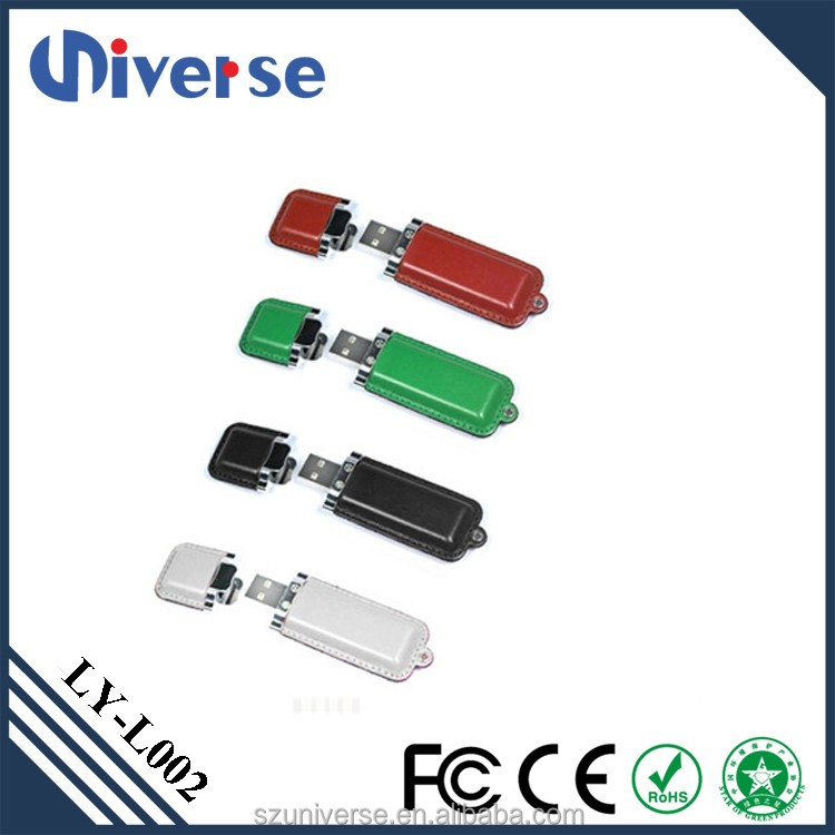 Free Sample Stock Usb Stick Memory Leather Usb Flash Drive Wholesale