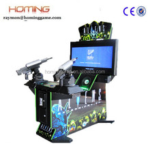 Aliens Extermination shooting game machine/2015 new produce amusement ticket gun shooting video playing for kids and adult