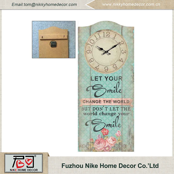 China Supplier High Quality Handmade Luxury Wall Clock