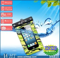 New Products Wholesale Camo Compass Waterproof Pounch, Waterproof Cell Phone Bag for iPhone 6