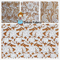 Popular Floral Design Chemical Embroidery Dress Fabric