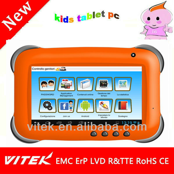 "Best android 7"" kids tablet pc RK2926 With parents control"