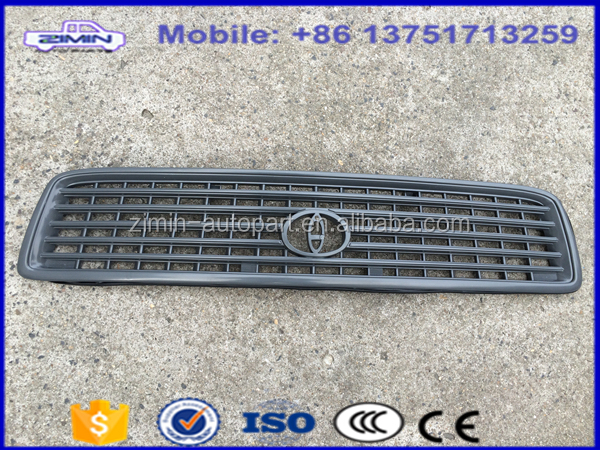 Zimin plastic auto front air grille for toyota pickup hiace 1998