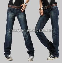 2015 hot sale plain jeans for women no name denim jeans straight women denim pants JXL20967