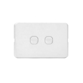 AU Standard Slimline type 2 gang 2 way wall switch