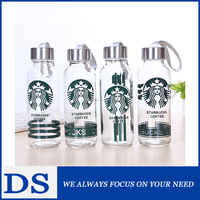 Wholesale 300ml mineral water glass bottle with metal cap