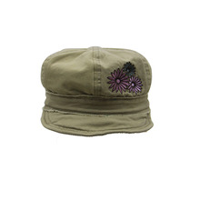 High quality flat top custom army unisex sun caps military peaked cap