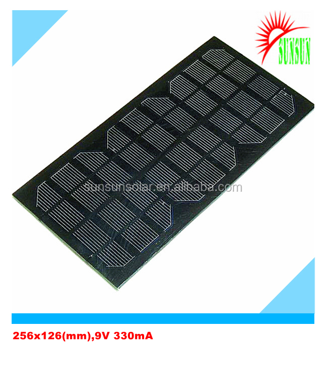 PET laminated 3W 9V mini solar panel