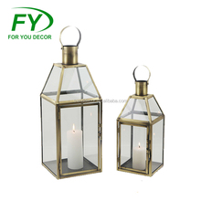ML-2608 Set Of 2 Hot Selling Cheap Popular India Moroccan Brass Lantern