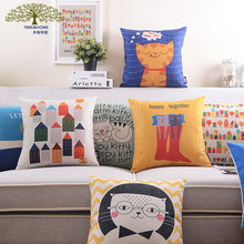 cartoon animal cat cushion cover Home Textiles solid embroidery cushion