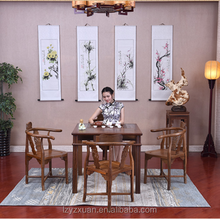 With the collection value root carving tea table Chinese antique furniture alter table antique Chinese kang table