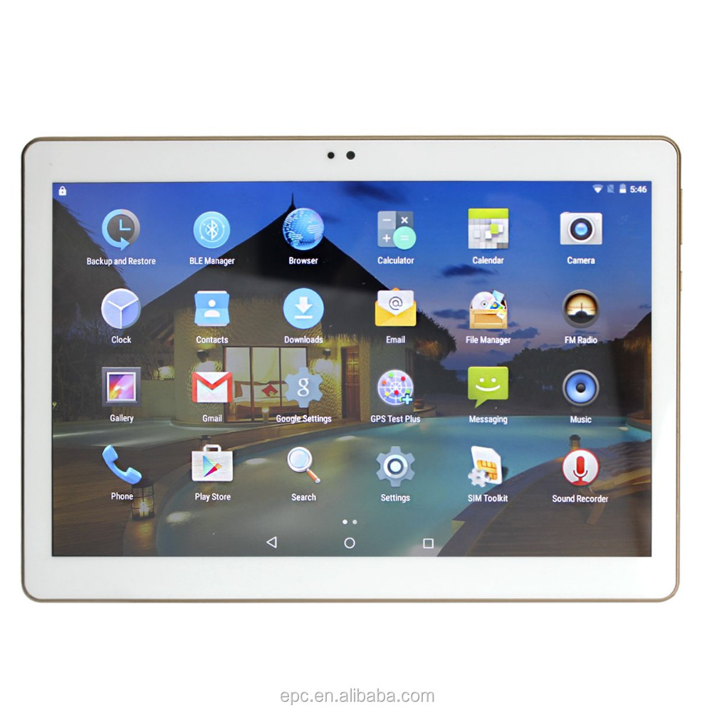 2016 Best Selling 10.1 Inch Tablet, quad Core With 3G, Gps, Wifi Tablet Pc