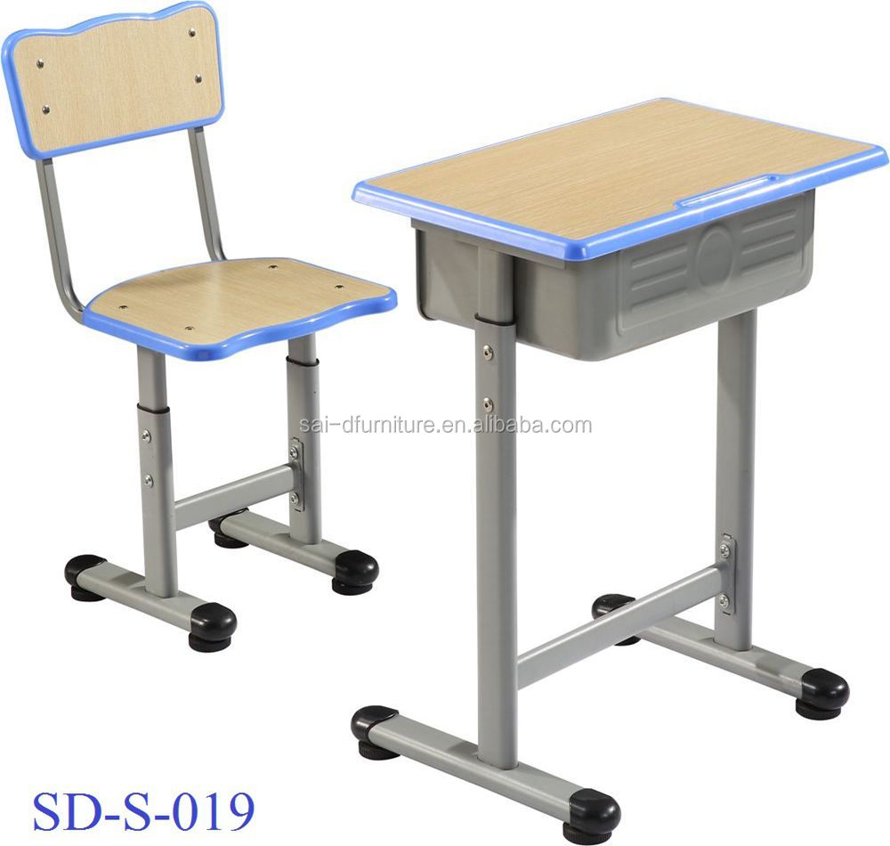 SD-S-019 Student Furniture Modern Attached Cheap High School Study Table And Chair