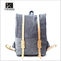 High Quality Hot Sale Fashion Canvas And Leather Backpack