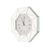 living room home decor polygon wall mirrored clock