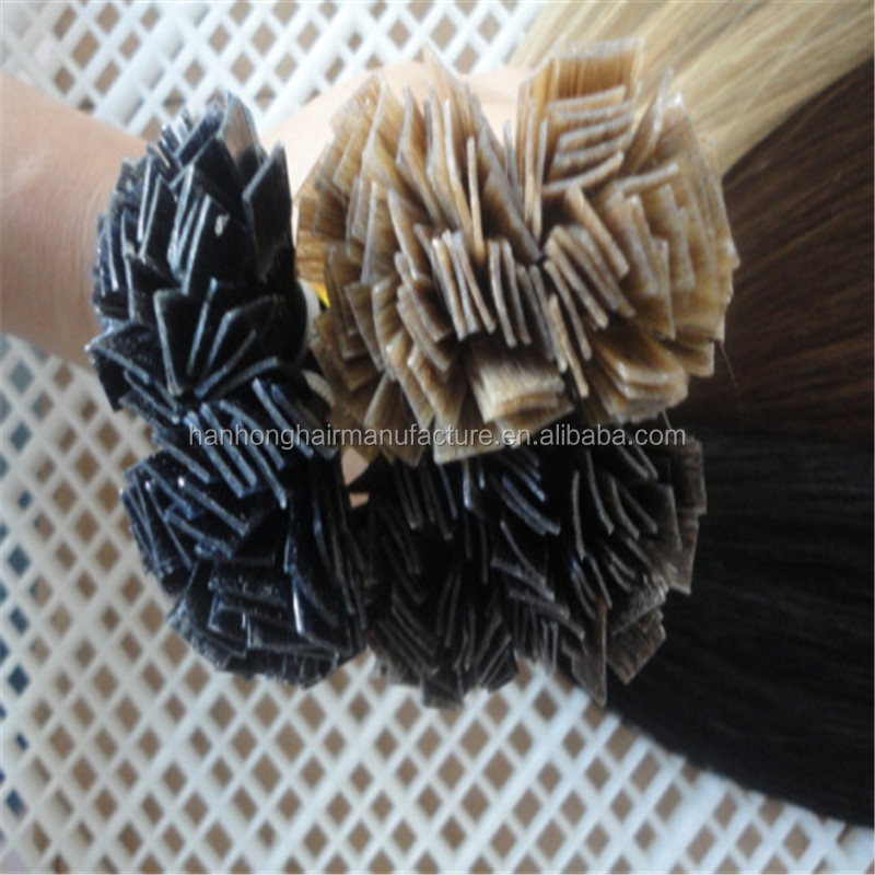 Alibaba china 100 human hair flat tip 100gram pre bonded brazilian hair extension