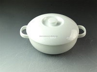 Cheap Hot sale white porcelain soup tureen with ceramics lid