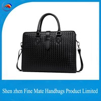 China manufacturer high quality men New design used laptop Briefcase Genuine Leather computers laptops