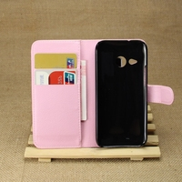 Special hot selling flip leather case for htc one m8 mini