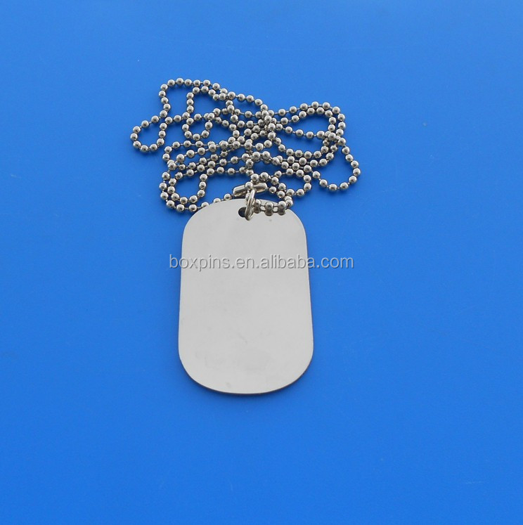 stainless steel women and men high quality polished necklace dog tag
