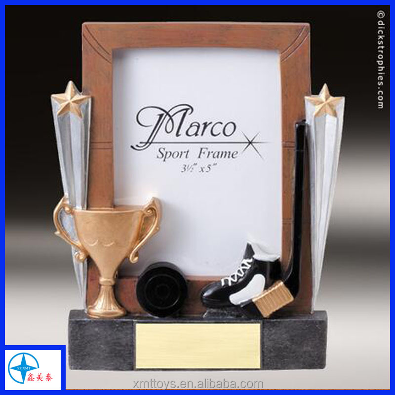 golf trophy resin photo frame polyresin sports picture frame