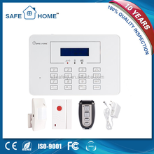 New Design Blue Screen White Color Display Touch Panel GSM Alarm System