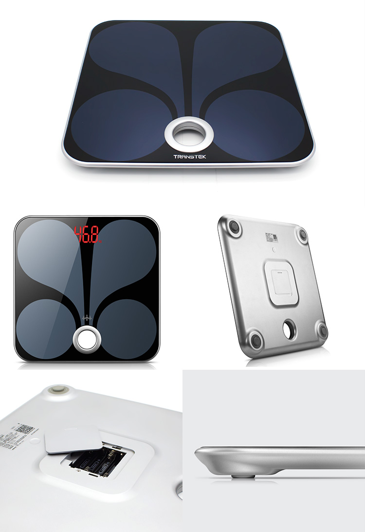 Fashionable Style Wi-Fi Body Fat Scale with BIA Technology for Sale