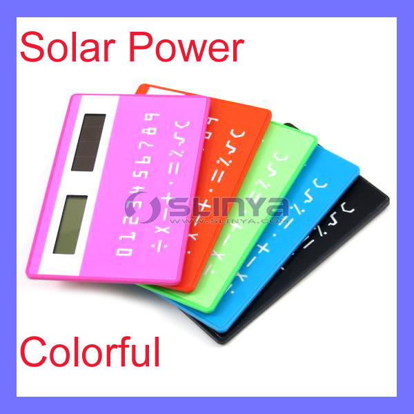 LCD Screen 1.1 Inch ABS Colorful Solar Power Card Calculator