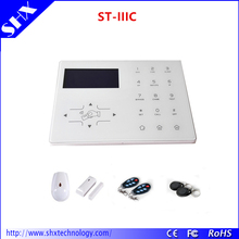 8 Wired 32 Wireless Zones PSTN RFID Home Security GSM Alarm System With Accessories