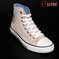 Canvas Denim Rubber Flat Men Casual Shoes