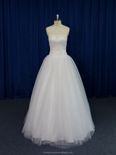 Cheap price china custom made alibaba wedding dress in cream color