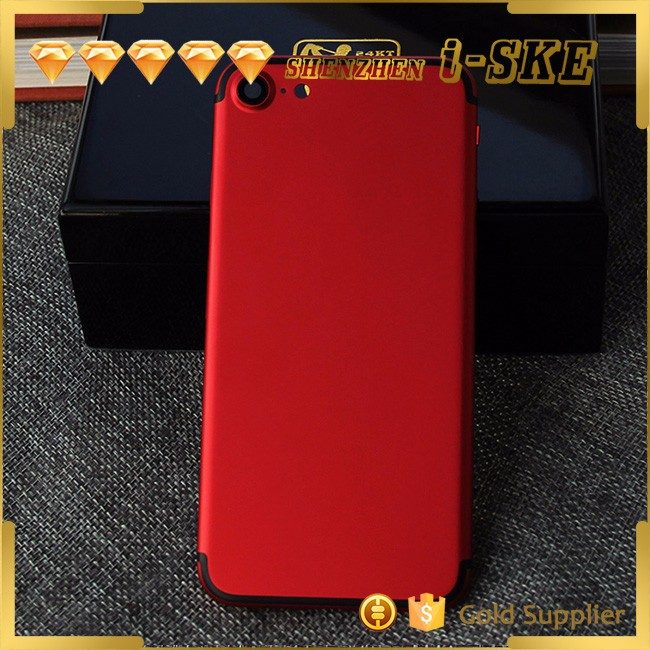 2017 innovative product for iphone 7 red Metal Middle Frame Back Cover Housing