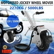 Trailer Jockey Wheel 12V 350W Motorised Electric Power Trailer Mover Camper Caravan Boat Trailer Jack with Solid Rubber Wheel T