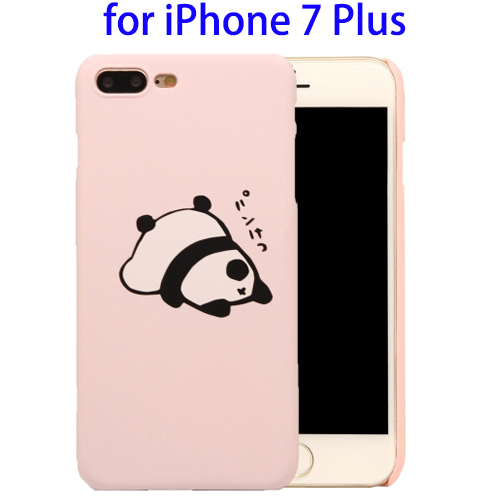 Logo Branding Cute Panda Pattern Plastic Back Cover Case for iPhone 7 Plus