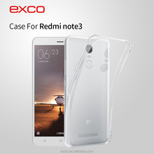 EXCO full cover TPU free sample Guangzhou supplier phone case wholesale for Redmi note3