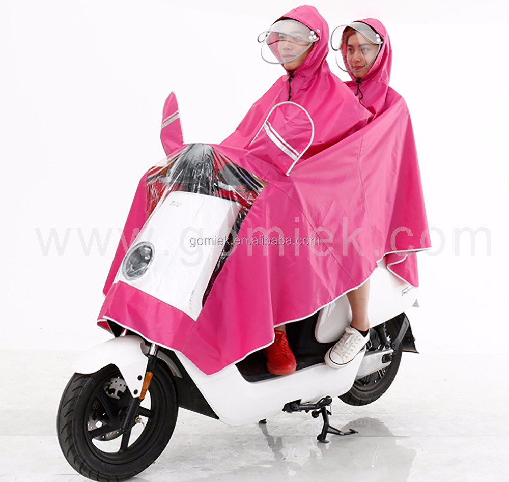 Motorcycle Best selling beautiful high quality big size pvc raincoat/poncho
