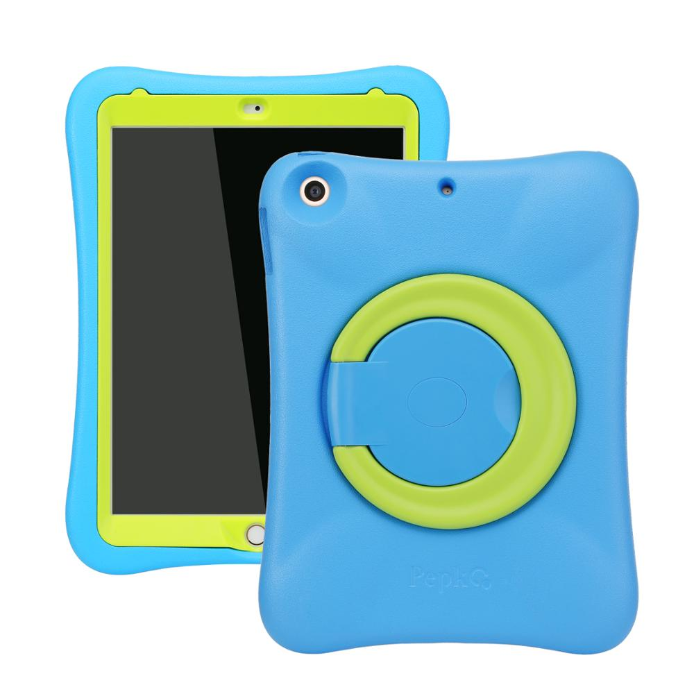 Pepkoo Light Weight Shockproof kid's Case with Kickstand for Apple <strong>iPad</strong> 2017/2018 9.7