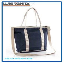 Simple Design Navy Microfiber Mother Carry Bag